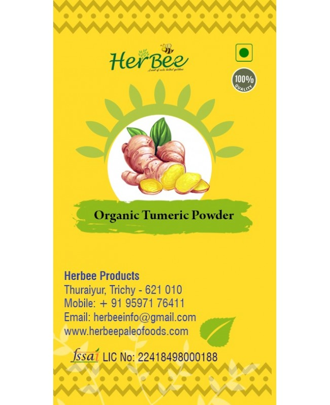 Organic Plain Pasumanjal Powder (Turmeric Powder)