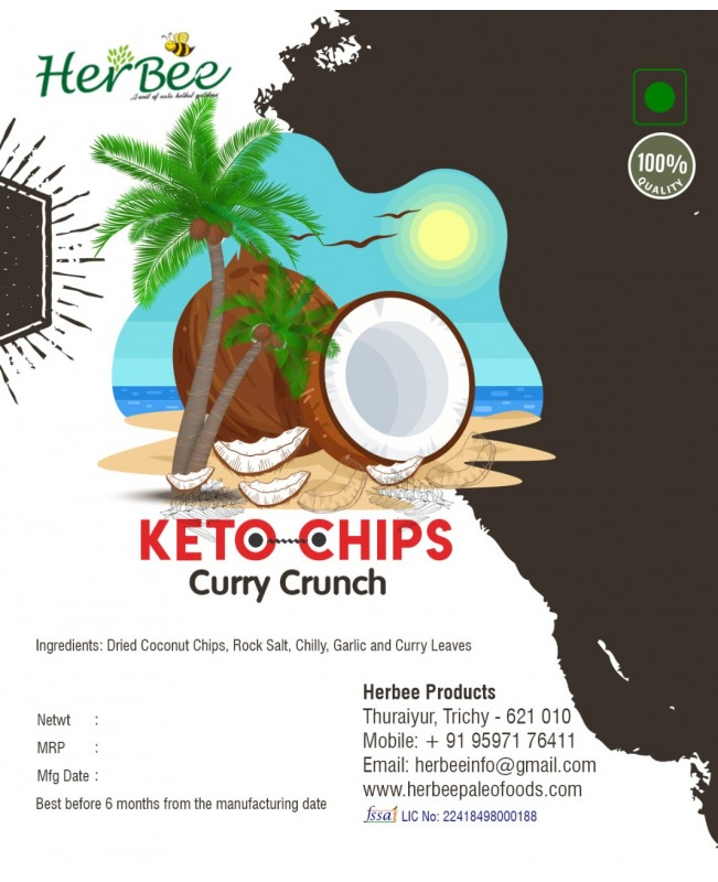 Keto Chips - Curry Crunch 100g