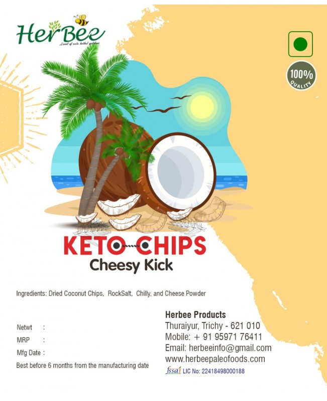 Keto Chips - All 3 flavors :  Cheesy Kick 100g + Curry Crunch 100g + Chilly Punch 100g