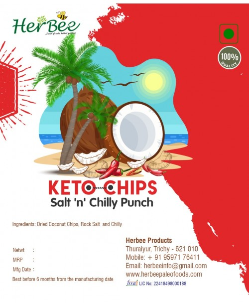 Keto Chips - Salt N Chilly Punch 100g