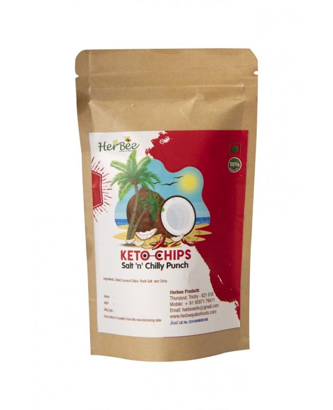 Keto Chips - Salt N Chilly Punch 100g