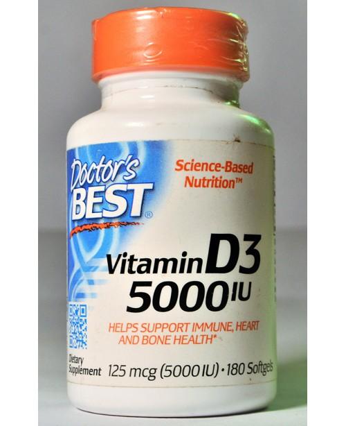 Doctor best Vitamin D3 - 180 5000 iu